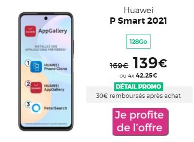 Huawei P Smart 2021 promo RED