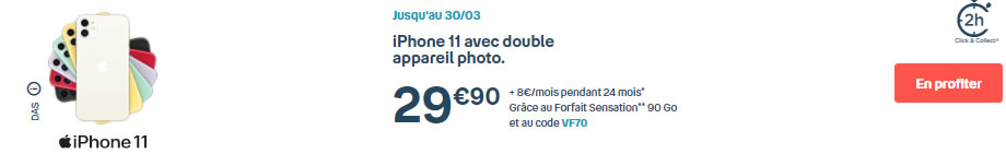 iPhone11 Bouygues promo