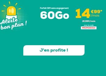 Souscrire au forfait 60Go La Poste Mobile
