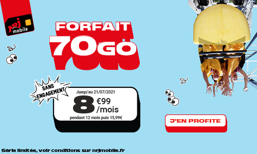 Forfait 70Go NRJ Mobile