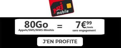 Forfait 80Go nrj mobile