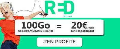 Souscrire au forfait illimité 100Go RED