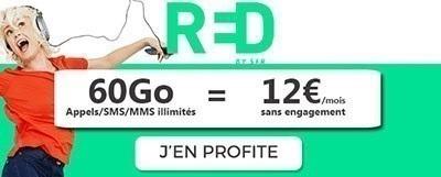 Souscrire au forfait RED 60Go à 12€