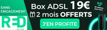 RED Box avec TV dès 19€ avec 2 mois offerts
