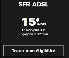 SFR ADSL 15 euros