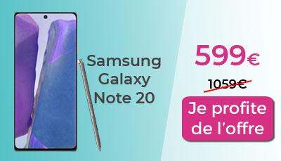 Galaxy note 20 5G Boulanger promo