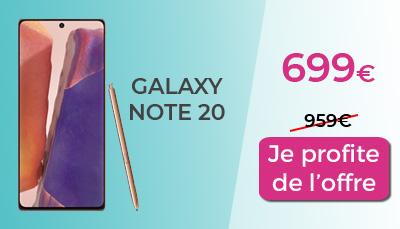Galaxy Note 20 Boulanger