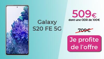 Galaxy S20 FE 5G promo RED