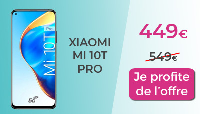 Xiaomi Mi 10 T Pro 449€ chez RED