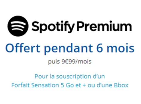 spotify bouygues gratuit