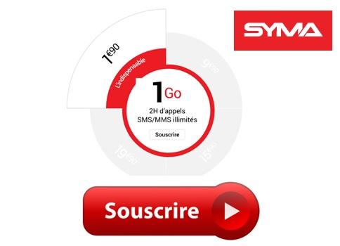 Souscrire au forfait L'indispensable de Syma Mobile