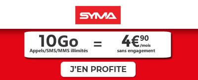 Syma 10Go à 4,90€