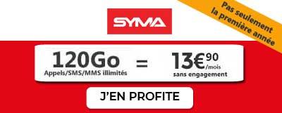 Forfait 120Go Syma Mobile