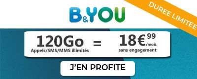 Forfait 120Go B&You de Bouygues