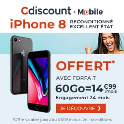 promo Cdiscount iPhone 8