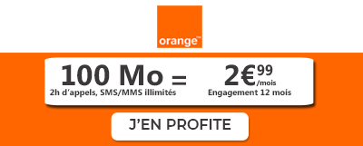 forfait mobile Orange 100 Mo à 2 €