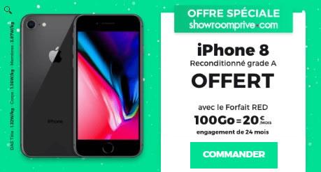 Vente privée RED iPhone 8 offert
