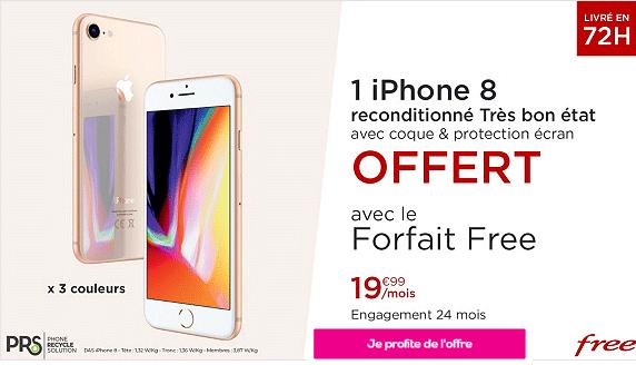Vente privée free mobile avec iphone 8 offert