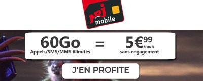 Forfait NRJ Mobile 60Go