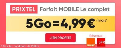 Forfait Le Complet Prixtel 4.99€