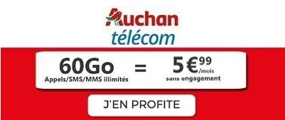 Forfait 60Go Auchan