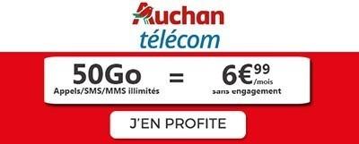 Forfait Auchan Telecom 50Go