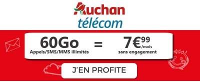 Forfait Auchan Telecom 60Go