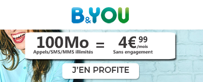 Forfait B&You 100Mo à 4.99€