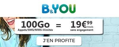 Forfait 100Go promo B&You