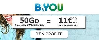 Forfait B&You 50Go à 11.99€