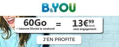 Forfait 60Go + week-end illimité