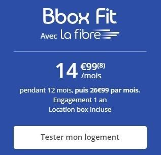 BBOX Fibre à 14.99€