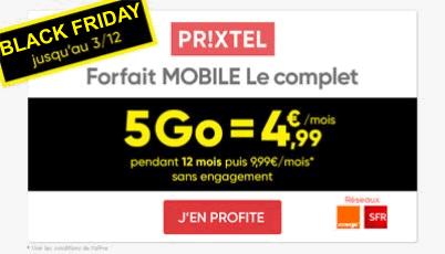 Forfait Prixtel 5Go promo