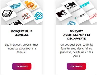Bouquets TV SFR offerts