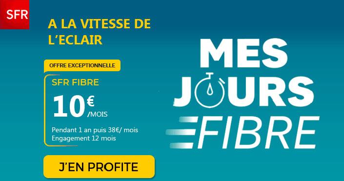 sfr fibre optique à 10 euros par mois
