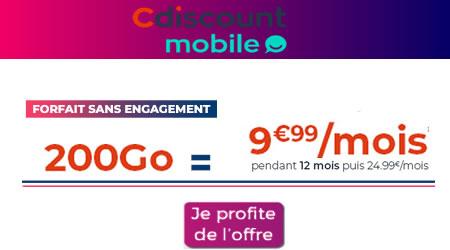 Forfait 200Go Cdiscount Mobile