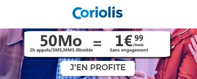 coriolis forfait pas cher 1,99€ moins de 2€