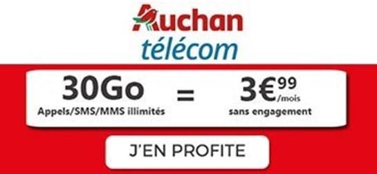 Forfait 30Go Auchan