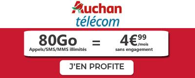 Forfait 80Go Auchan Telecom