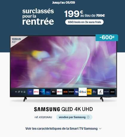 smart tv de bouygues en promotion à 199 euros