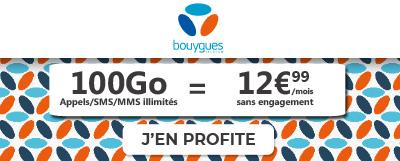 forfait mobile 100 Go de Bouygues Telecom en promotion