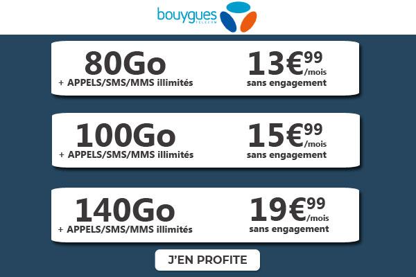 Promos B&You sur forfaits mobiles