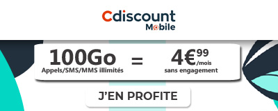 Cdiscount et sa promo 100 Go à moins de 5 euros
