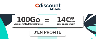 Forfait Cdiscount Mobile 100Go
