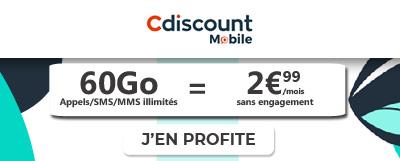 forfait Cdiscount mobile à moins de 3 euros