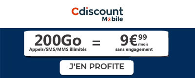 Forfait Cdiscount Mobile 200Go)