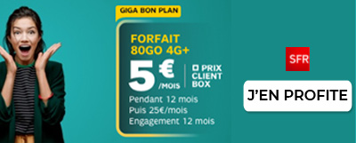Forfait 80Go SFR 5€