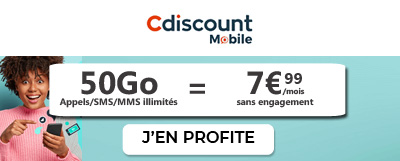 Forfait 4G 50Go Cdiscount mobile
