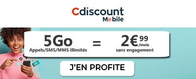 Forfait 5Go Cdiscount Mobile