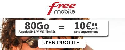 Forfait Free 80Go